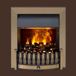 DANVILLE ANTIQUE BRASS OPTI-MYST INSET ELECTRIC FIRE